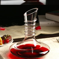 Clear Beautiful Glass Wine Decanter With Handle