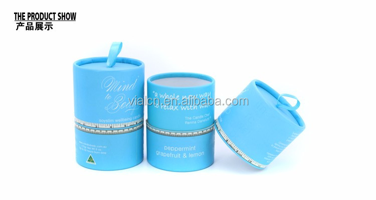 OEM wrapping paper cardboard tube packaging luxury candle paper tube packaging