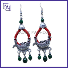 Wholesale Coiling Fish Shaped Lucky Round Earring