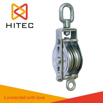 Stainless steel close block pulley stainless steel closed type block with double wheel