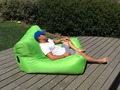 Green - Outdoor big joe bean bag chair, Theatre / Gaming chair, waterproof 2 seat space cushion