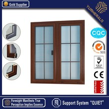 Made in China Energy Saving Tempered Glazed Low-e Wooden Double Door Designs