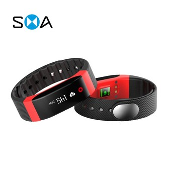"SMA-COACH 0.88"" touch screen heart rate pedometer sleep fitness tracker call/message reminder smart bracelet"