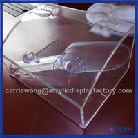 2016 Factory Direct Sell clear acrylic containers / acrylic store candy box
