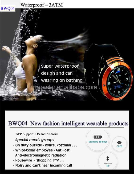 2015 BWQ04 Smart Watch/ Health Care Smart Watch/ Sports Fitness Tracker