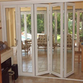 Factory custom aluminum frame double tempered glass folding door