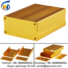 bead blast gold junction extrusion aluminum enclosure box