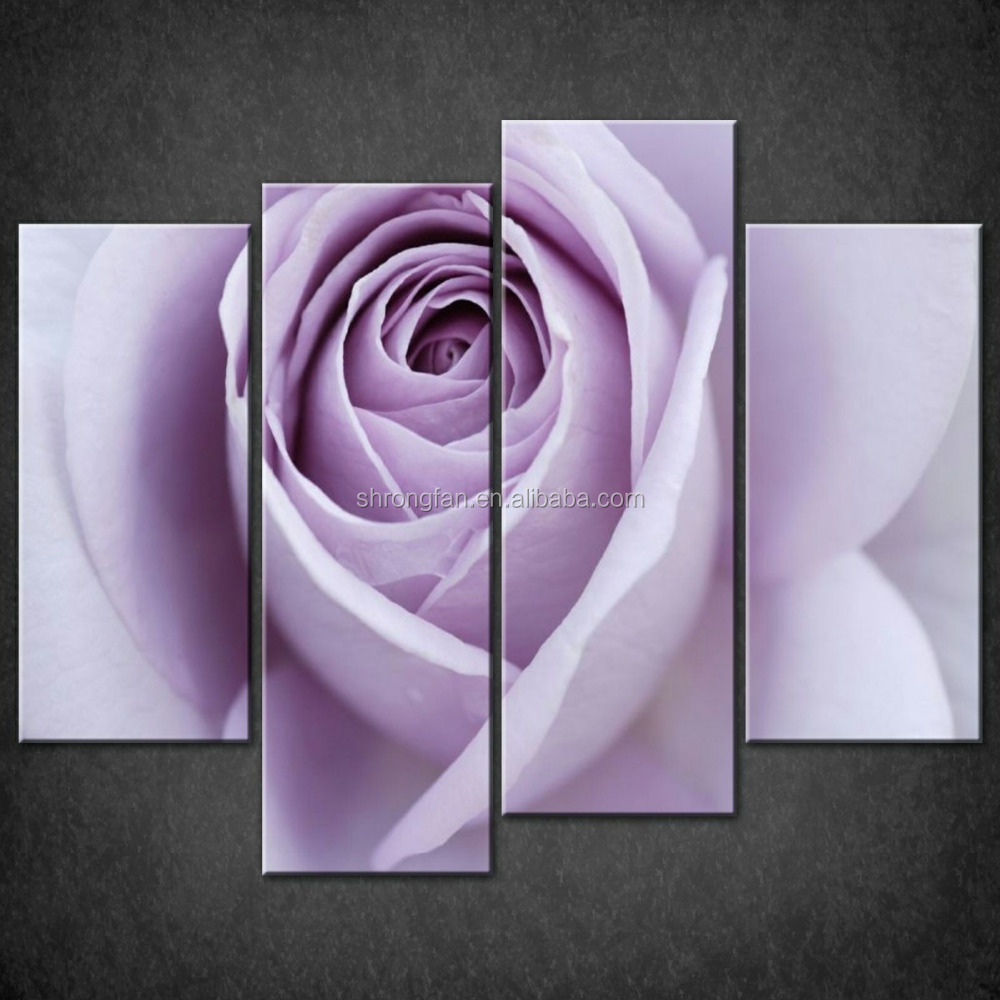 Vibrant and rich colours light purple rose split canvas wall art pictures prints larger sizes available