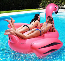 2016 New Design 2 person PVC Inflatable flamingo pool float