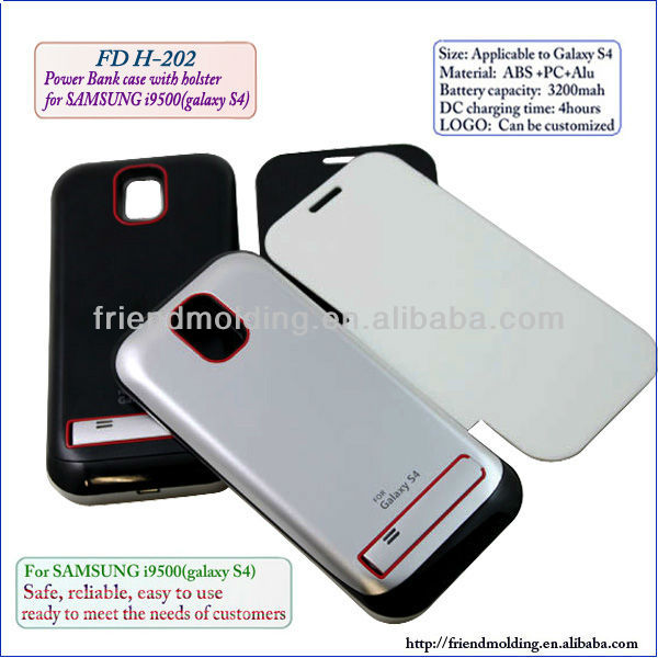 Power bank case With holster for samsung galaxy S4