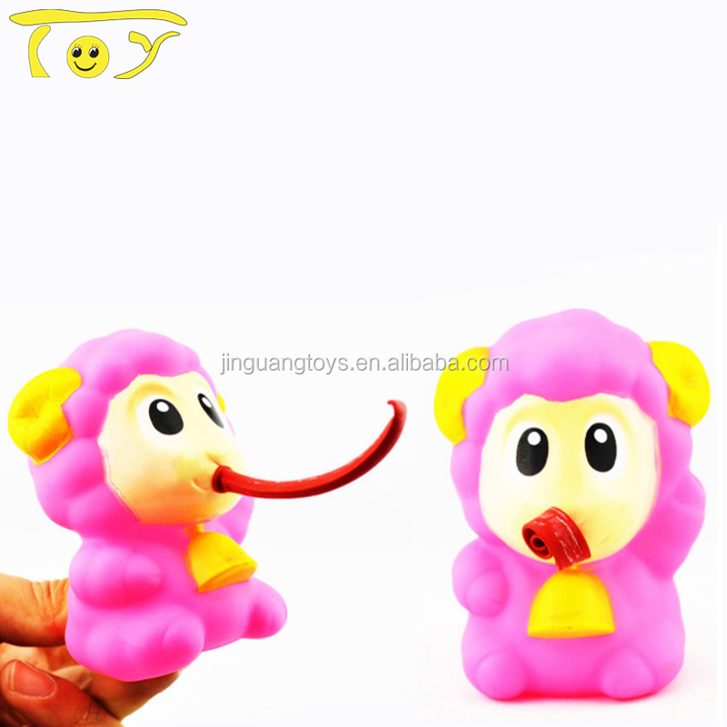 Squeeze toy with tongue