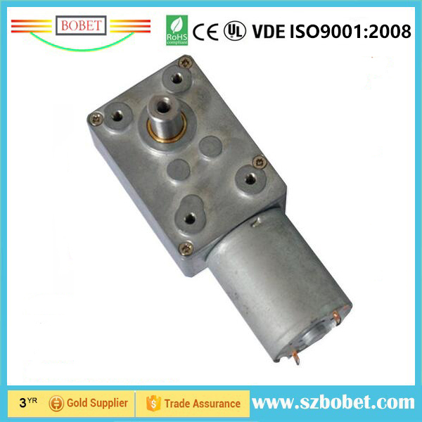 1.0Nm torque DC12v dc motor with worm gear reduction
