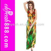 New V neck maxi sexy slimming modern design long dress