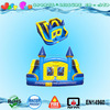 4 in 1 wet dry inflatable combo games inflatable castle slide combo, bouncer water slides with small pools
