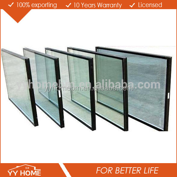 Certified Double Panel Insulated Glass Price For Window Panes supplier in china