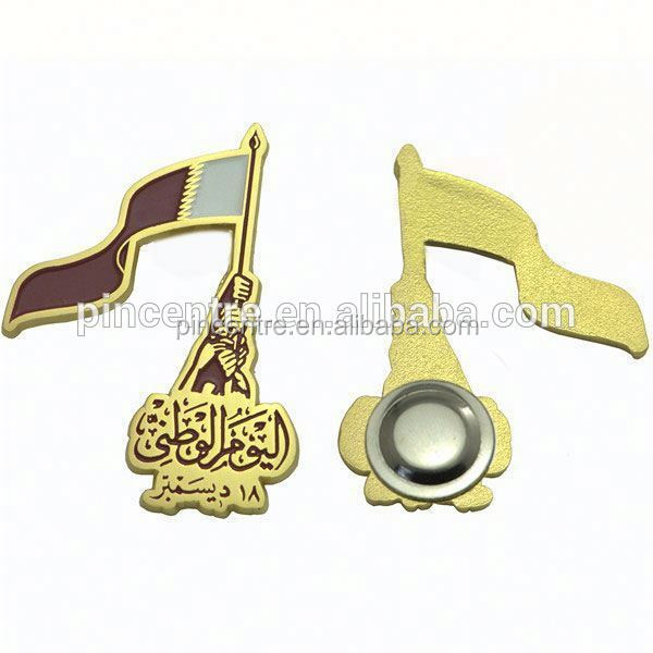 Qatar national day flag magnetic badge pin