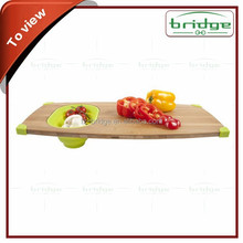 Core Bamboo Pro Chef Butchers Chop Block / Cutting Board with Prep Bowls