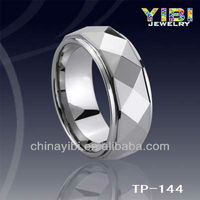 Chinese Engraved Tungsten Simple Ring Pot Leaf Belly Ring Indian Wedding Ring Designs