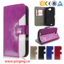 Assorted color design oiling pu leather case filp cover for Acer liquid z630 leather case