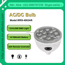 Remote Control AC & DC Camping Rechargeable SMD Bulb with B22 or E27 Lamp Holder (WRS-4003AR)
