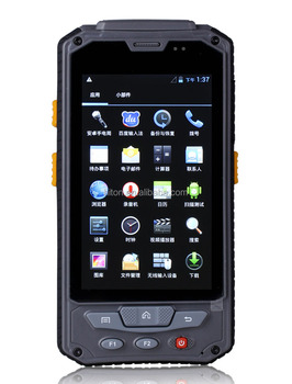 4.3 inch palm handheld Android PDA with GPS, RFID, fingerprint 1D or 2D Barcode scanner