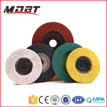 "4-7"" Safety Aluminium Oxide Type 27 & Type 29 Flexible Abrasive Flap Disc For Stainless Steel, Metal, Wood, Stone"