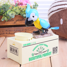 Creative parrot toy digital eat money coin plastic piggy bank