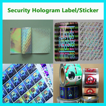 3D hologram security sticker Label