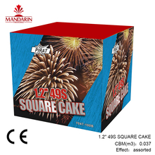 assorted effects 1.2 inch 49 shots Chinese outdoor CE cake fireworks