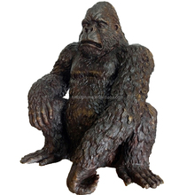 hot sale China factory supplied city decoration landsacpe bronze gorilla sculpture for outdoor animal ornament