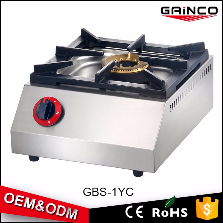 wholesale price commercial single burner gas stove table gas stove hotel kitchen equipment GBS-1YC