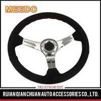 China manufacture professional auto parts suede sport racing steering wheel