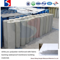 white pvc polyester reinforced with fabric backing waterproof membrane building materials