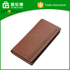 hot selling factory handmade leather wallets for men long design wallet