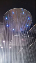 Modern stainless steel 16 inch led fixed shower head