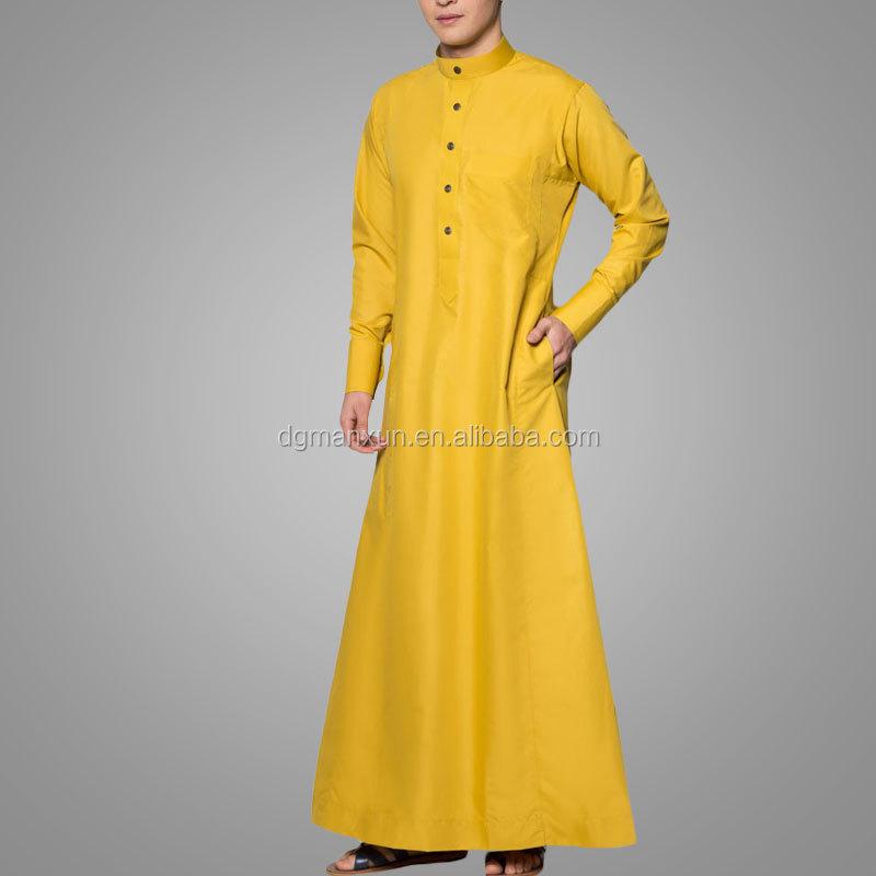 Moslim jubah 2016 lange mouw mannen jubah een slim fit for Islamitische sportkleding vrouwen