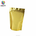 Waterproof Gold Printed Plastic Stand Up Pouch Ziplock Clear