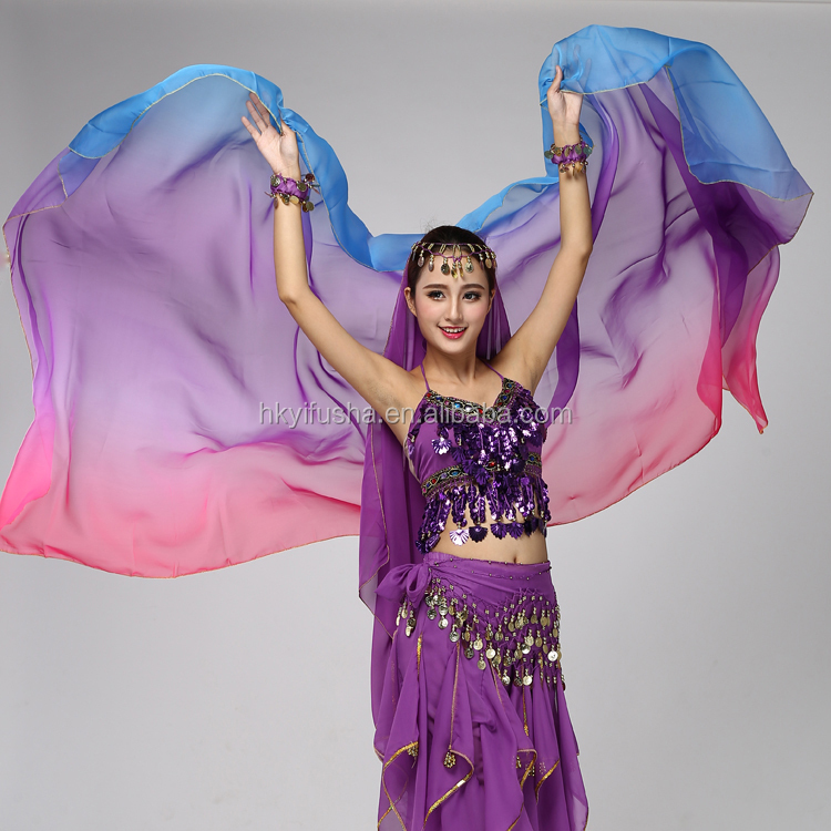 Dance props type women tie dye chiffon belly dance veil M5097