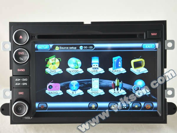 WITSON car audio DVD navigation system FORD MUSTANG