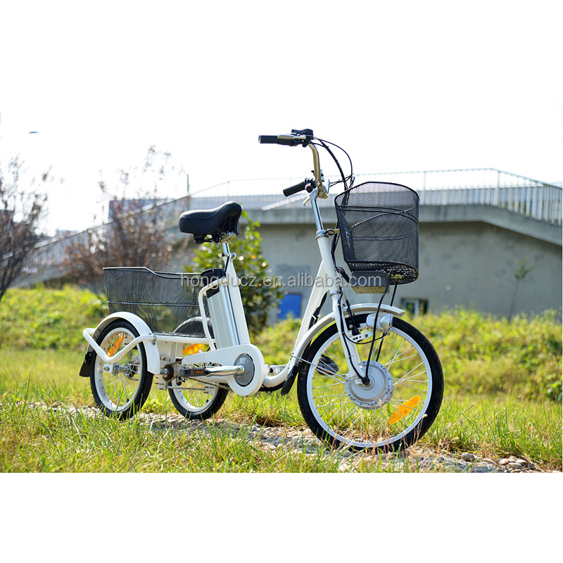 New style pedal assisted 3 wheel electric bicycle for elders