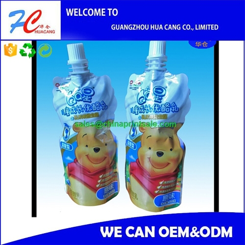 Plastic Spout Pouch/Doypack Nozzle Bag/Stand Up Pouch with Spout in 2015
