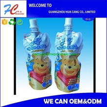 Smooth Plastic Spout Pouch Nozzle Bag/Stand Up Pouch with Spout For Fruit Juice Packaging