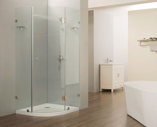 HEF Frameless Quadrant Shower Box