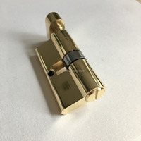 Polished brass cylinder locks without keys for bathroom wc door lock