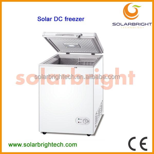 Solarbright manufacturer supply solar battery powered energy deep chest portable 150L 12v dc deep freezer