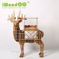 Vintage animal wine holder decor deer wine rack wood