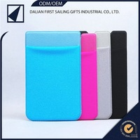 silicone phone case 3m sticker smart wallet mobile card holder