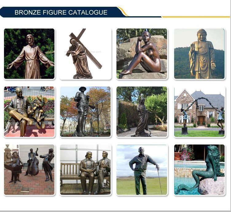 Coleção de arte de bronze em tamanho Natural nu do homem para venda