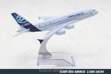 Boyie Original 16cm Zinic Alloy Plane Model 1: 500 380 Airbus Airplane Model for Gifts