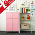 Living Room Storage Cabinet Steel Cupboard Have 6 Doors